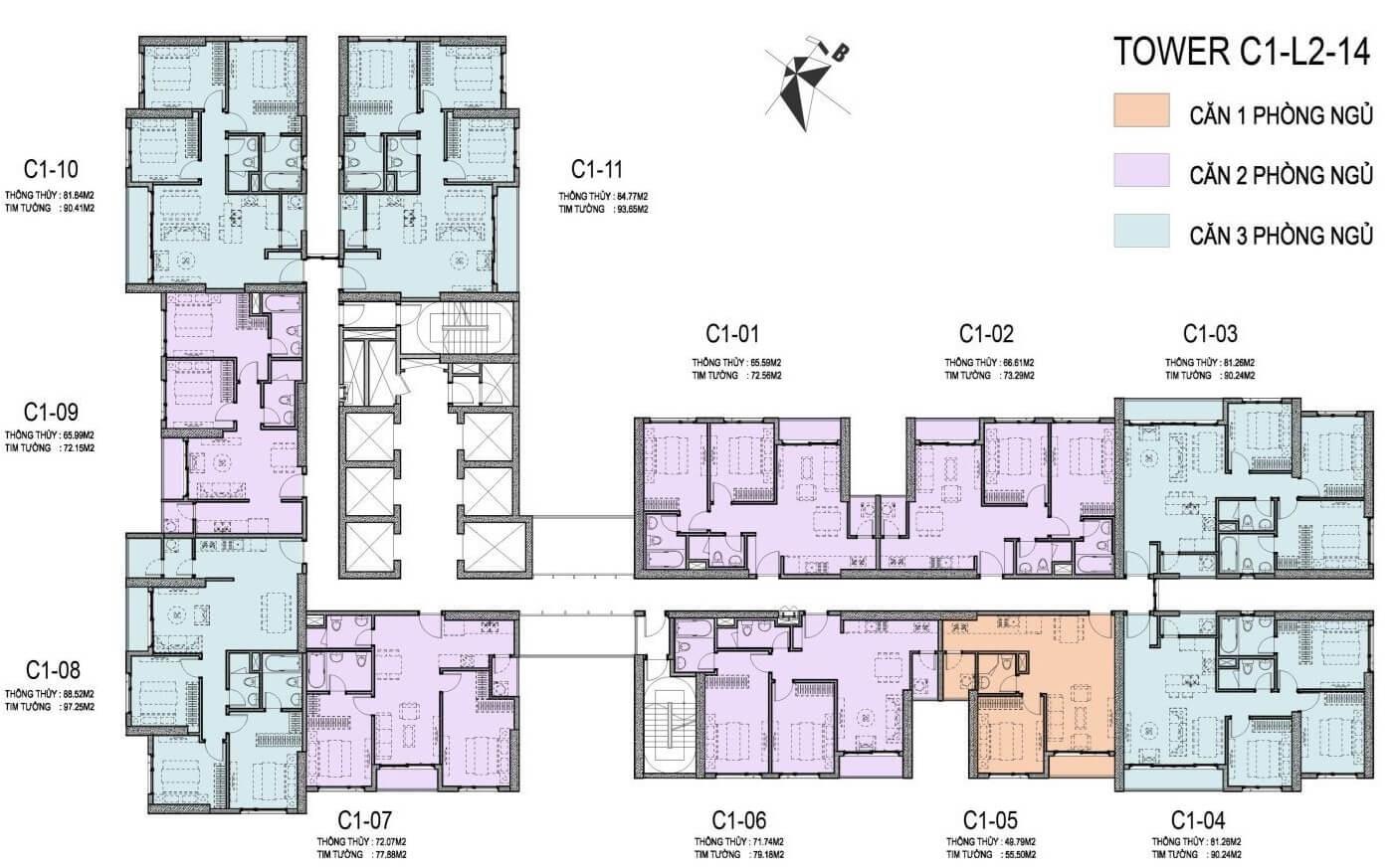 thiết kế căn hộ vinhomes d' capitale