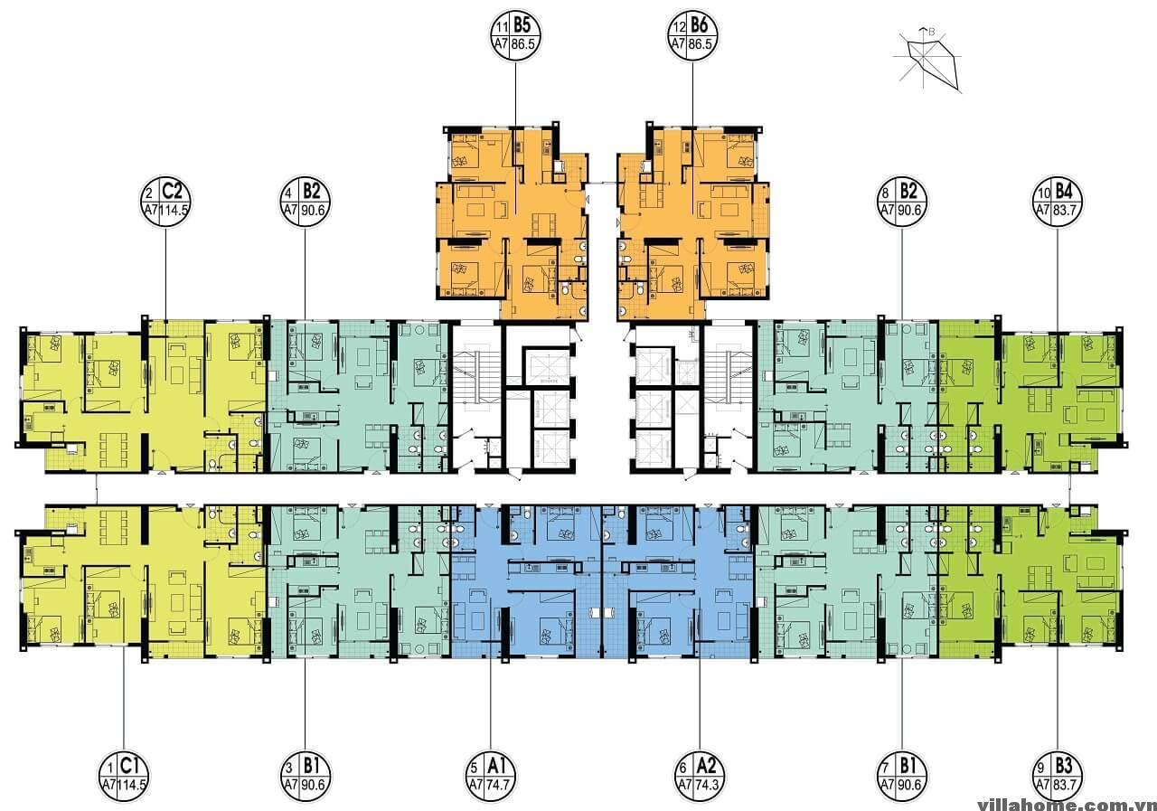 Mặt Bằng Tòa A7 - An Bình City