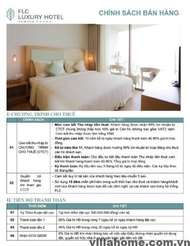 Chính Sách Bán Hàng Condotel FLC Luxury Hotel