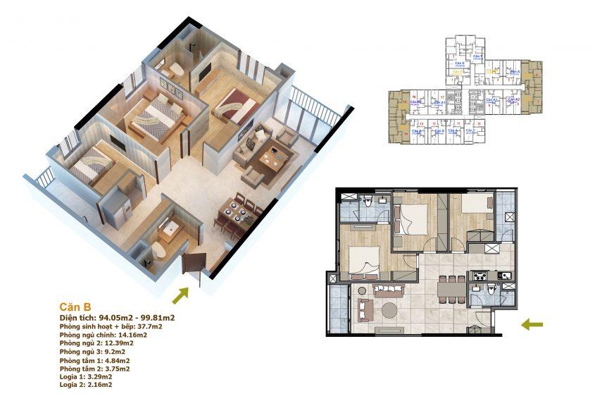 thiết kế căn hộ goldmark city