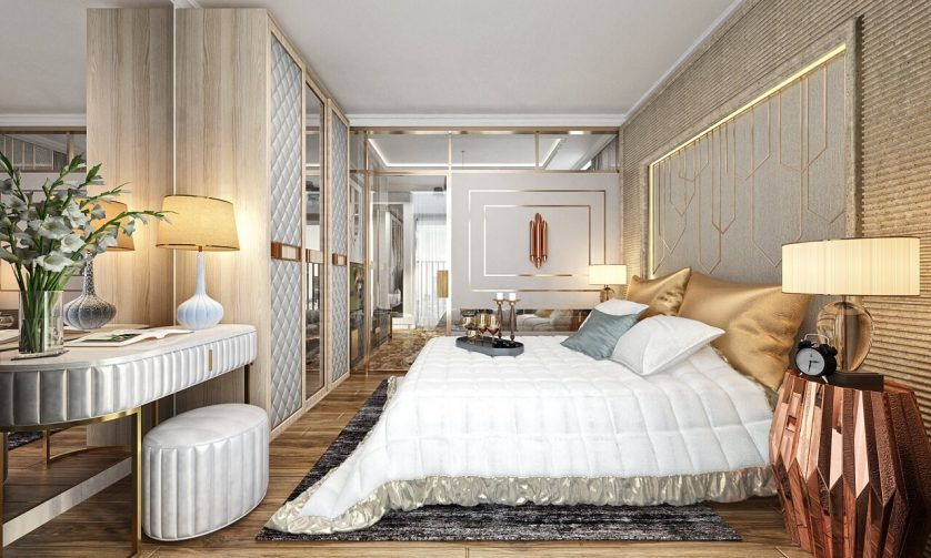 Phòng ngủ căn hộ D'. Eldorado