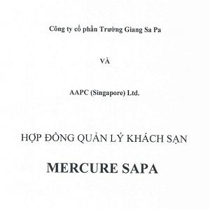 hợp đồng quản lý accor vào dự án sapa jade hill