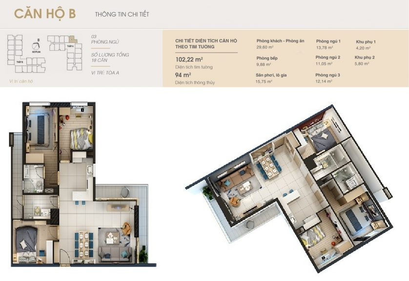 thiết kế căn hộ rivera park