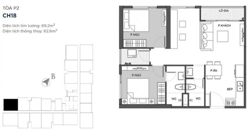 thiết kế căn hộ vincity sportia
