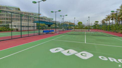 sân tennis trong khu biệt thự flc sầm sơn